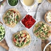 Mediterranean Crock-Pot Chicken Taco Bar