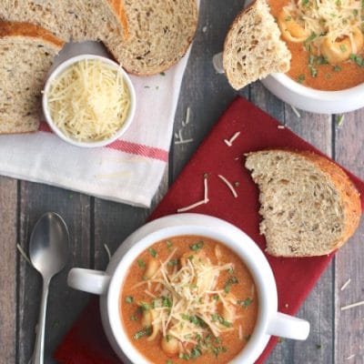 Tomato Basil Soup with Tortellini
