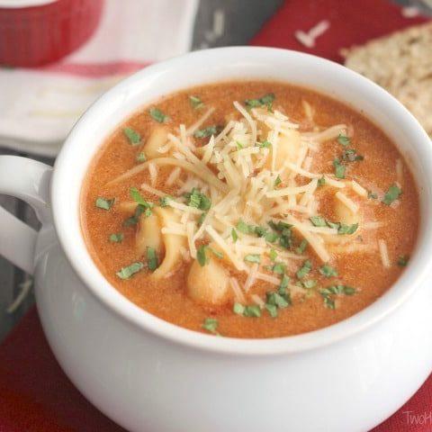 Tomato Basil Soup with Tortellini