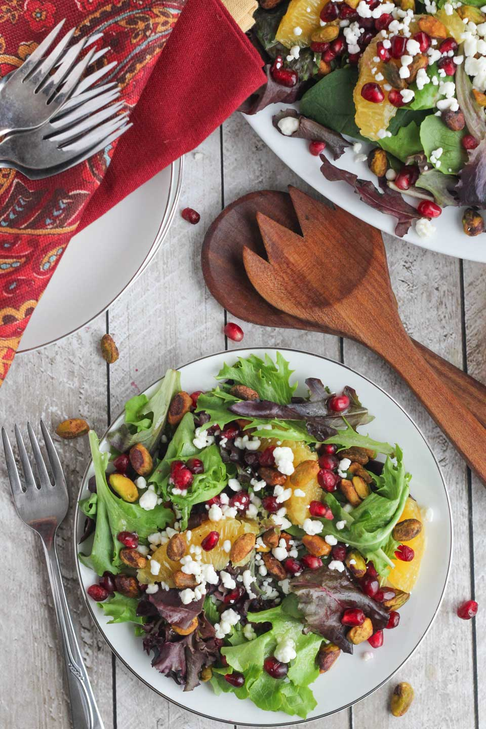 Christmas Salad With Citrus Champagne Vinaigrette Two Healthy Kitchens