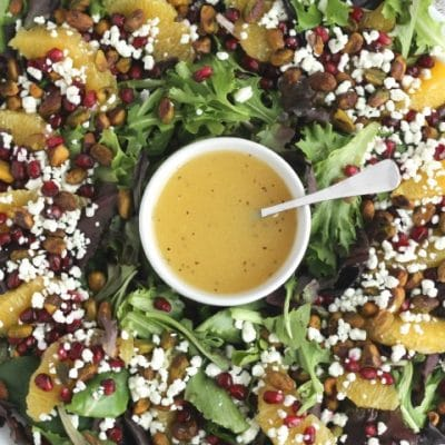 Christmas Salad with Citrus-Champagne Vinaigrette