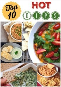 THK Top 10 Dips Collage