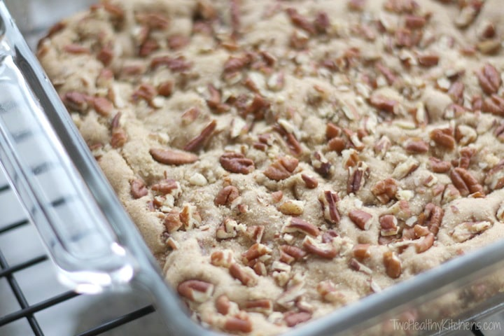 Kentucky Derby Chocolate-Pecan Cookie Bars Recipe {www.TwoHealthyKitchens.com}
