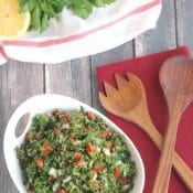 Easy Kale and Quinoa Tabouli Salad