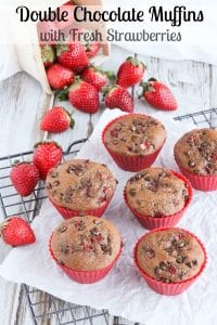 Double Chocolate Muffins Vert in Muffin Cups Pinnable