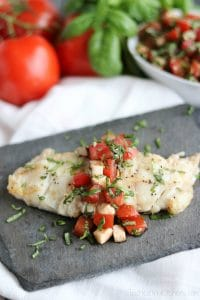 Caprese Grilled Fish Piece vert Watermarked