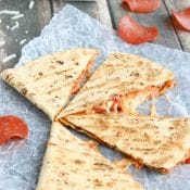 5-Minute Pepperoni Pizza Quesadilla