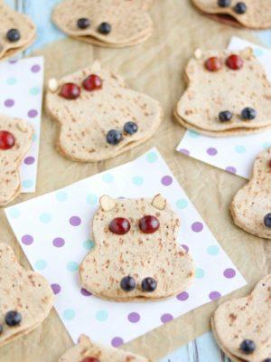 Hungry Hippos (Fun Sandwich Recipe for Kids)