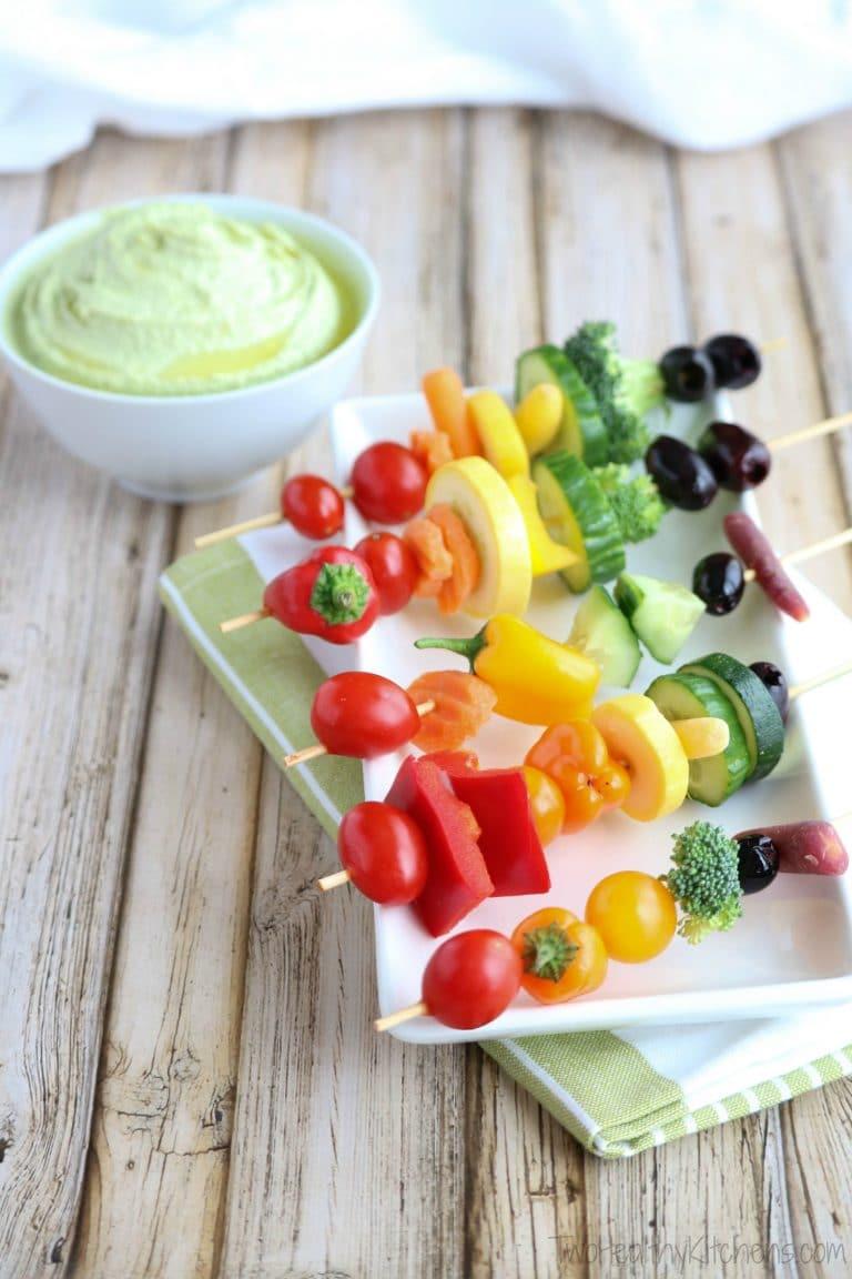 Rainbow Veggie Kabobs Two Healthy Kitchens