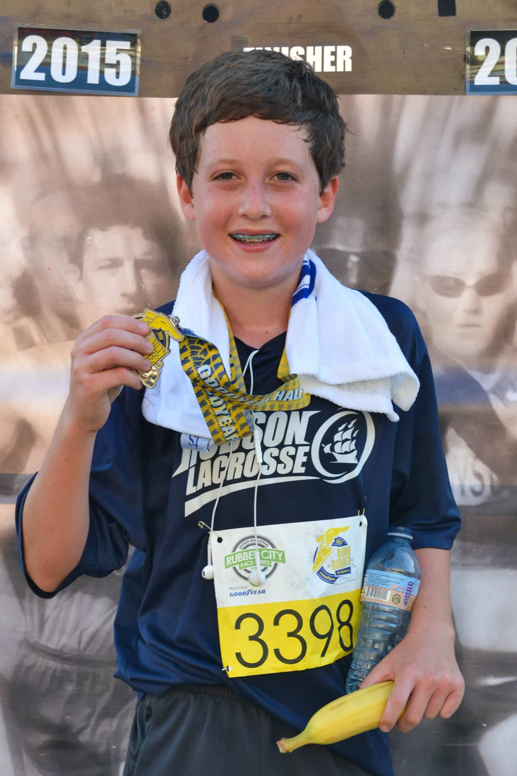 Ty with Medal