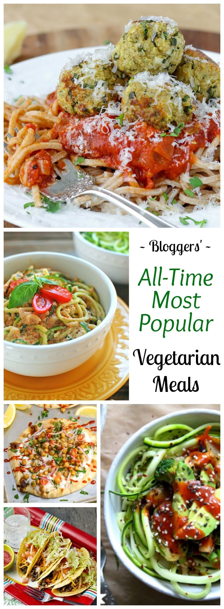Wildly popular vegetarian meals that are perfect for Meatless Monday … or any day! Easy vegetarian recipes that'll even keep meat-lovers happy! Perfect for the whole family! | www.TwoHealthyKitchens.com