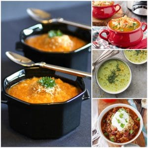 Chili and Soup Recipes Facebook Collage
