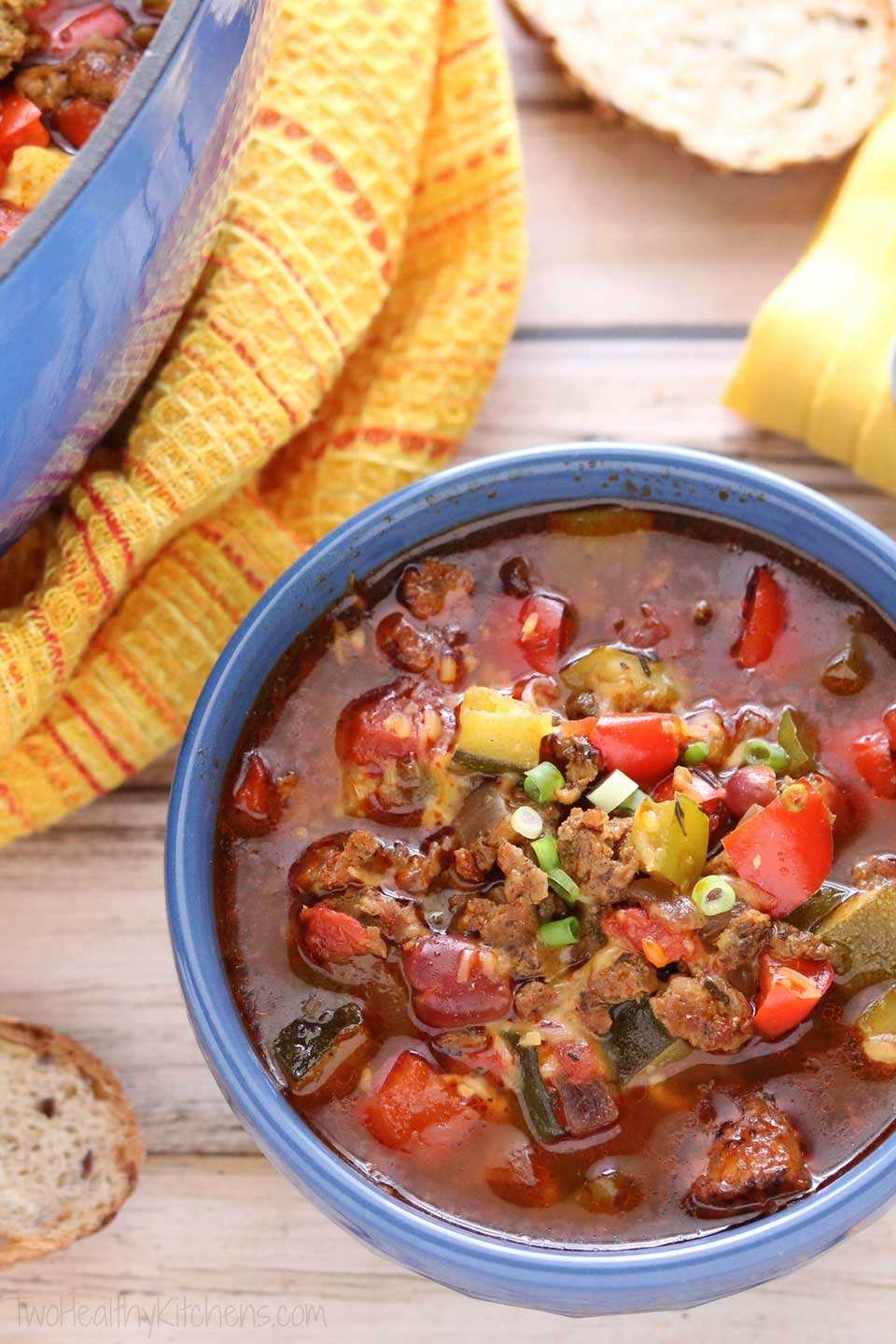 Indian Spiced Turkey Chili Two Healthy Kitchens