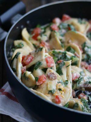 Cheesy BLT Pierogi Skillet Dinner