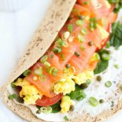 Easy Smoked Salmon Breakfast Wrap