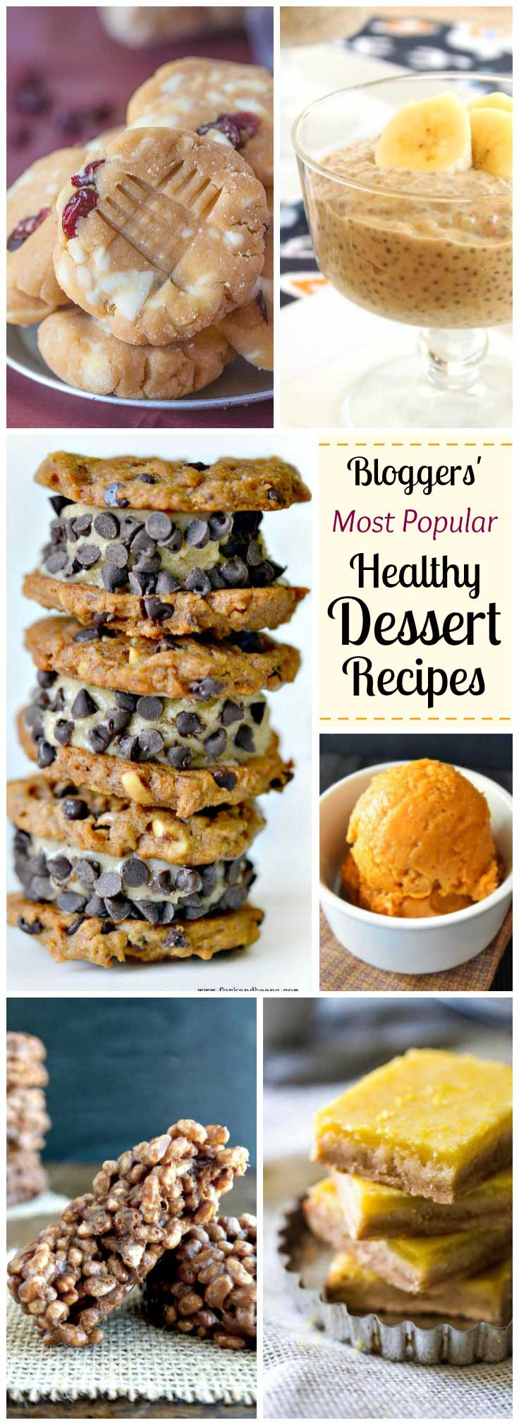 These super-popular dessert recipes are easy, healthy … and already superstars! Some of the most popular healthy recipes food bloggers have ever posted - and now we're thrilled to share them with you! They totally prove that healthy desserts can still be deliciously decadent and oh-so satisfying. Guilt-free and full of nutritious ingredients, these skinny dessert recipes are the answer to your cravings! Healthy dessert recipes you can truly feel good about serving!   www.TwoHealthyKitchens.com