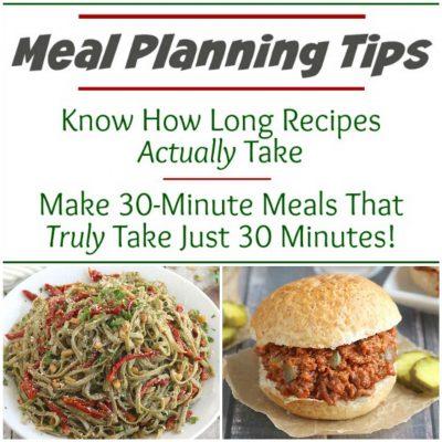 Meal Plan Smarter: Estimating REAL Recipe Prep Times