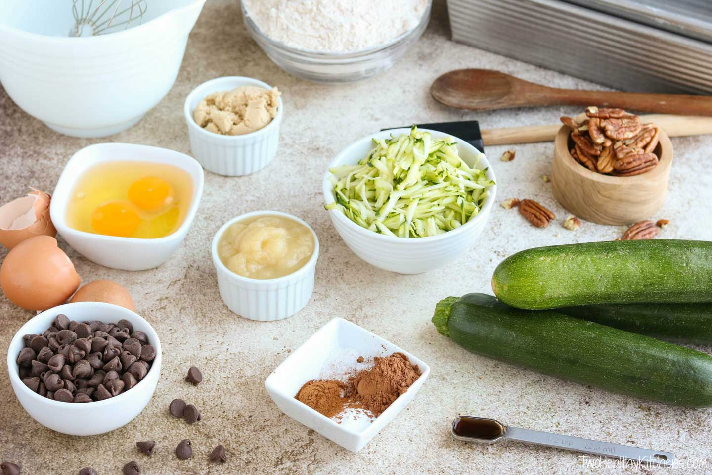How do you mise en place? It's easy! Gather the ingredients for your recipe, and measure and prepare them before you begin the actual mixing and cooking. Do things like chopping nuts, shredding zucchini, and measuring spices.