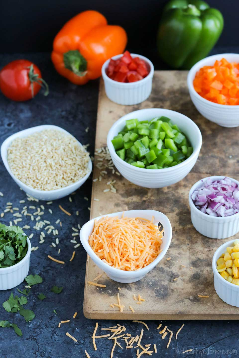 What is mise en place? It means putting everything in its place. And in cooking, that means finding, prepping and measuring ingredients and having them conveniently close at hand when you begin cooking. That's how the pros do it, and the first step in cooking smarter … cooking like a chef!