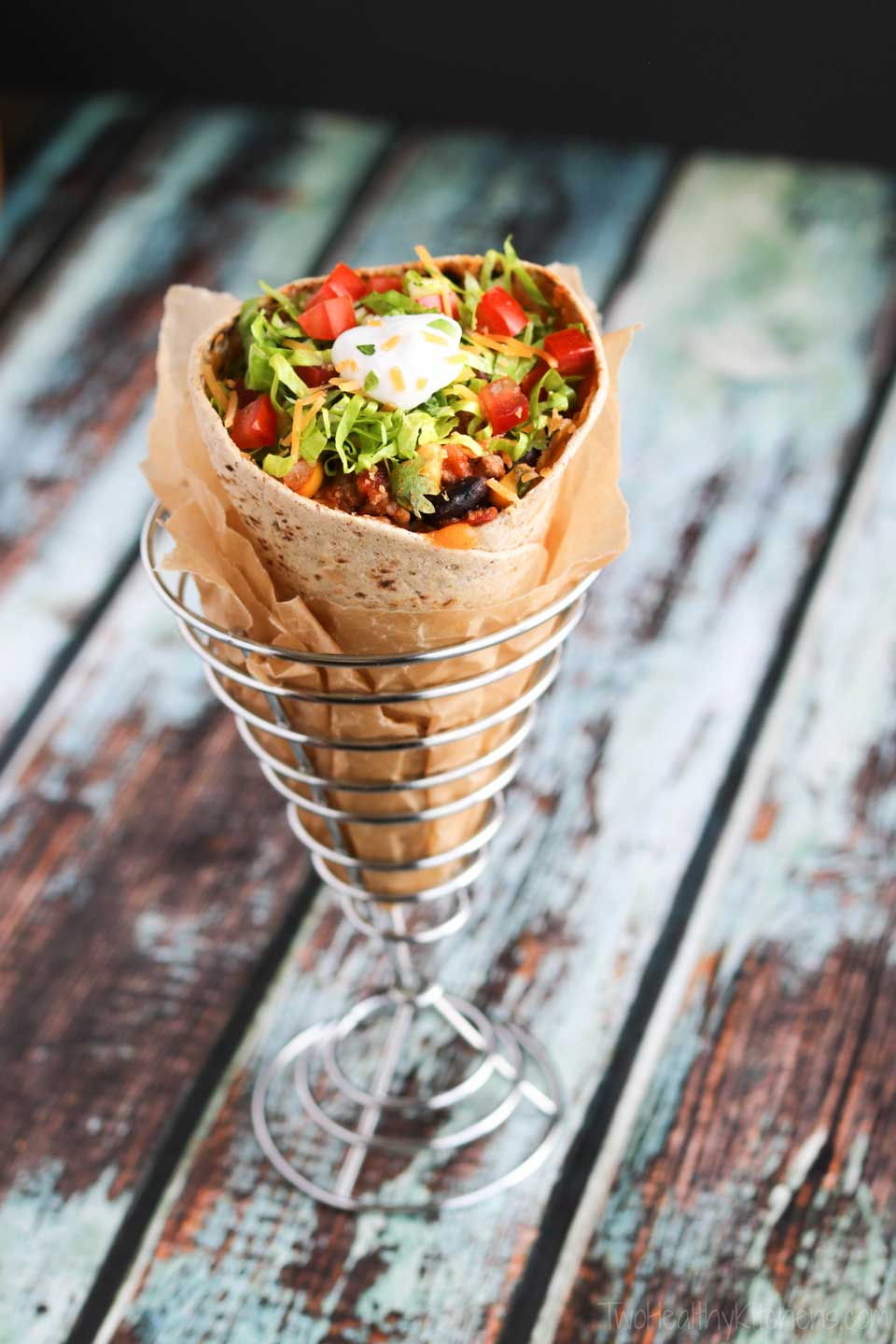 Because you can make both the healthy beef taco meat and the DIY cones ahead of time, it's easy to reheat just what you need for even just one single-serve Taco Cone at a time – ready for each member of your family whenever they're ready to eat!