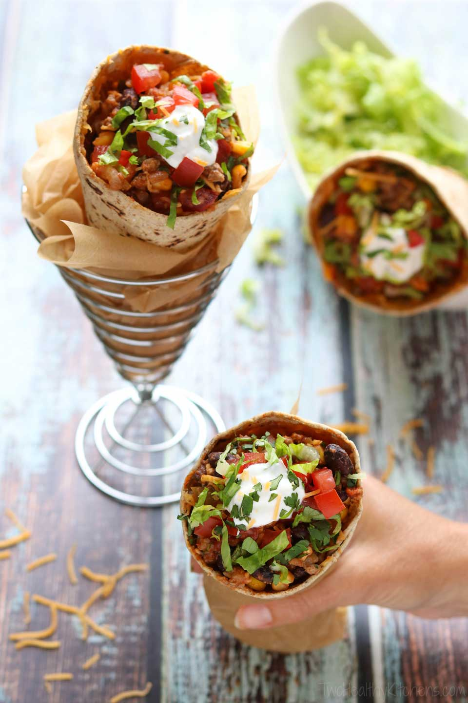 This make-ahead dinner recipe is a perfect grab-and-go meal! Portable tacos that are ready when you are!