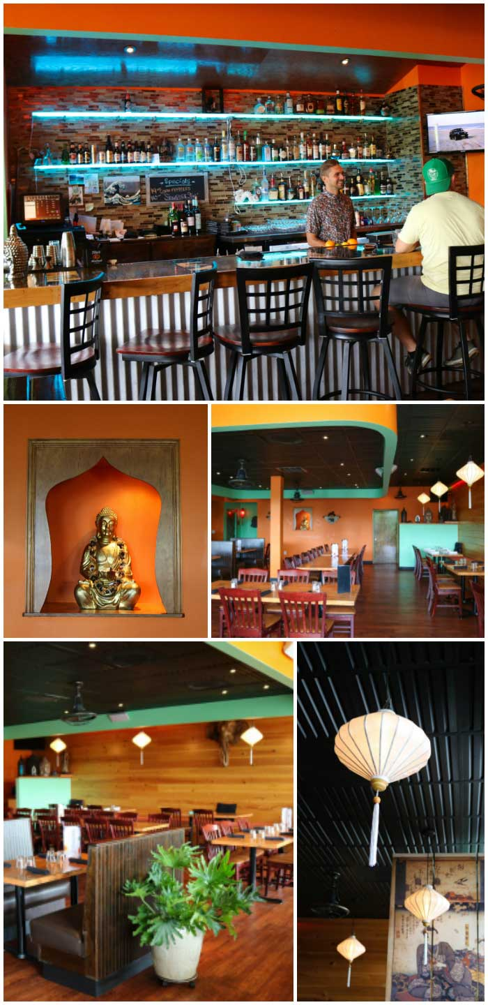 The décor at Buddha'Licious is perfect for OBX vacations … unique and a little exotic, yet welcoming and comfortably casual.