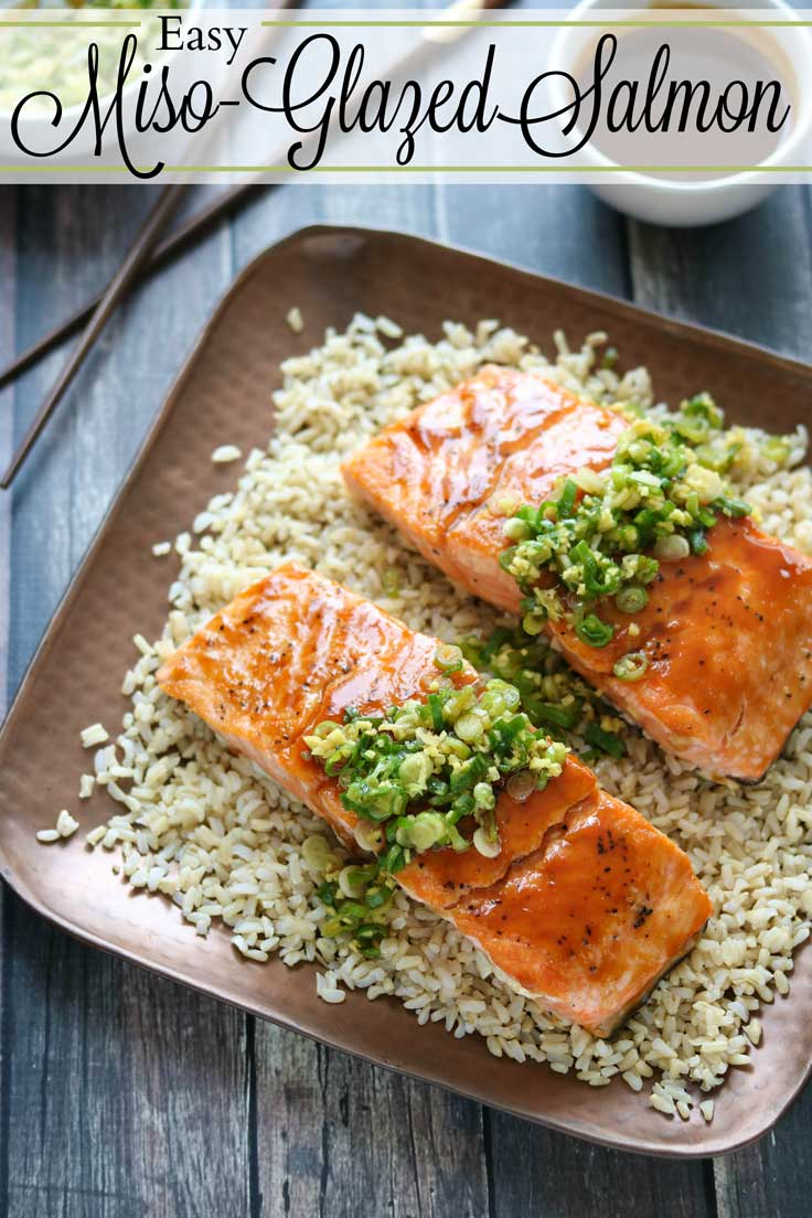Impressive and delicious … in 30 minutes! Our Red-Miso Glazed Salmon is bursting with bright, savory Asian flavors. This easy salmon recipe was inspired by one of our fave OBX restaurants - Buddha'Licious in Corolla, North Carolina. It's satisfying and vibrantly delicious - the perfect way to elevate a healthy salmon recipe to superstar status! Plus, you can make most of this Glazed Salmon recipe ahead of time, so it's perfect for busy nights or wowing guests! | www.TwoHealthyKitchens.com