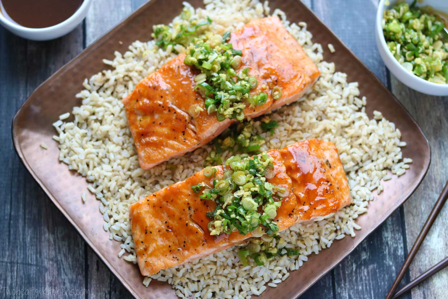 Our easy Red-Miso Salmon is a quick, simple take to Chef Bryant's masterpiece Glazed Salmon.