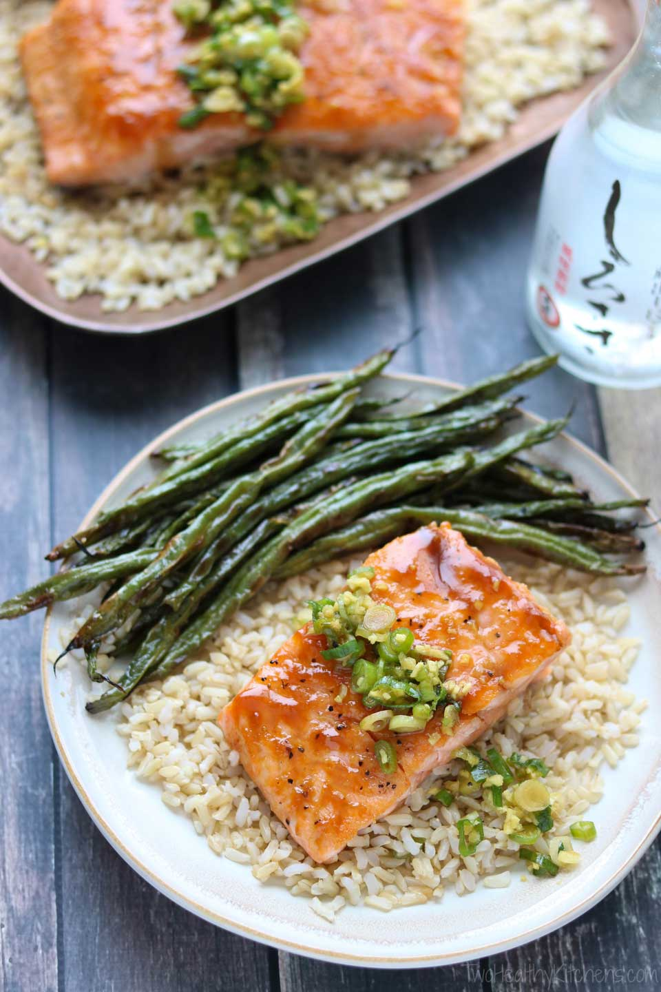 We love serving this Red Miso Salmon recipe alongside our favorite Blistered Green Beans.