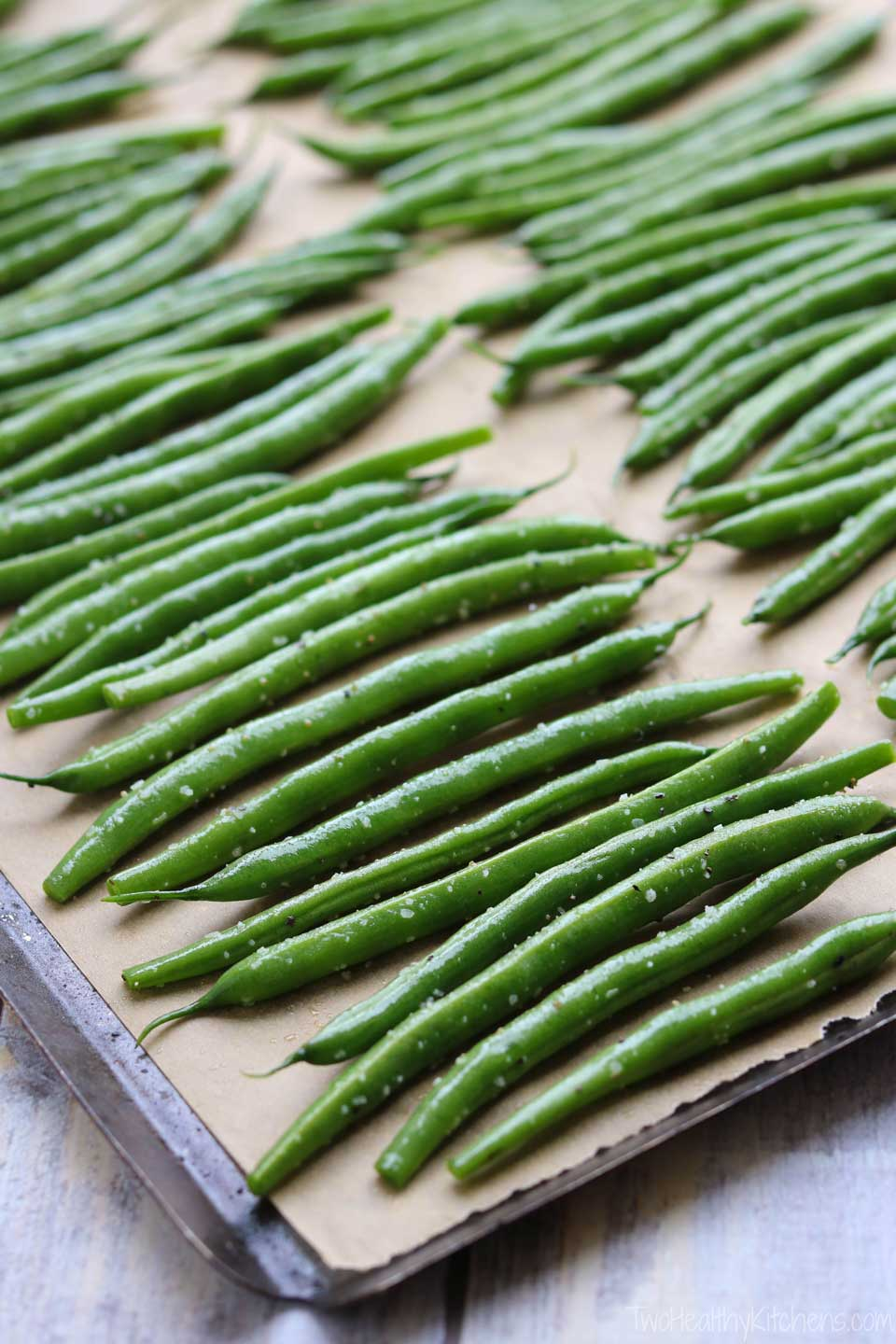 What ingredients do you need for Blistered Green Beans? Basically, just one: gorgeous, garden-fresh green beans! A little olive oil, salt, and pepper … and you're good to go!