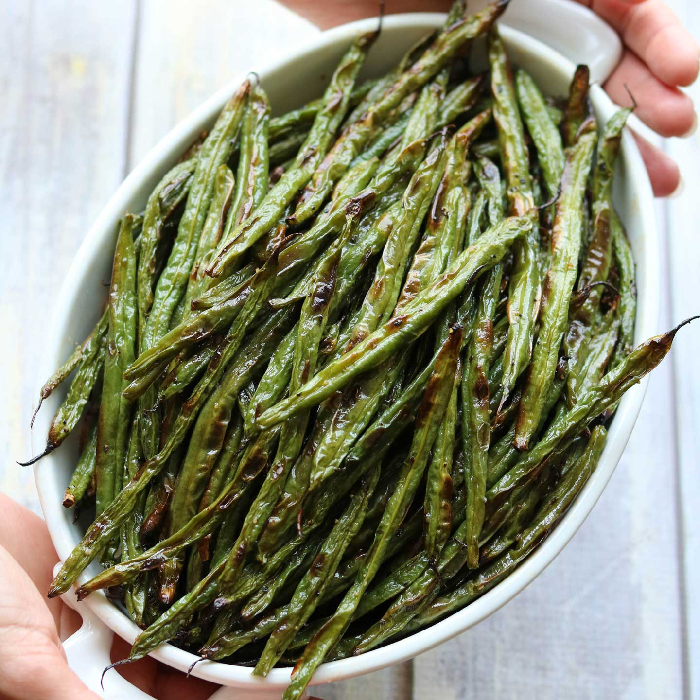 Blistered Green Beans are quick and easy … the ultimate in simplicity. Yet the magic of roasting means they don't taste simple at all! You'll be surprised how complex and delicious they are!