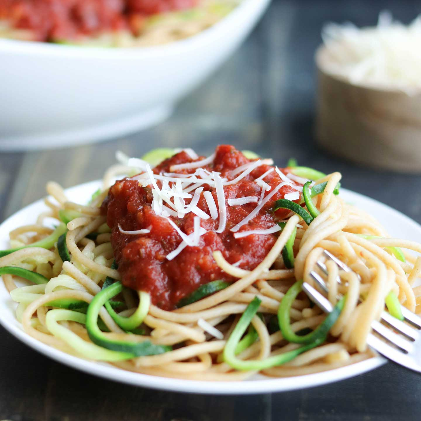 Spiralized veggies are a fun way to get your family eating more produce. This zoodles recipe is an easy place to start!