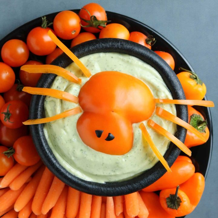 Spooky Spider Halloween Appetizer Dip
