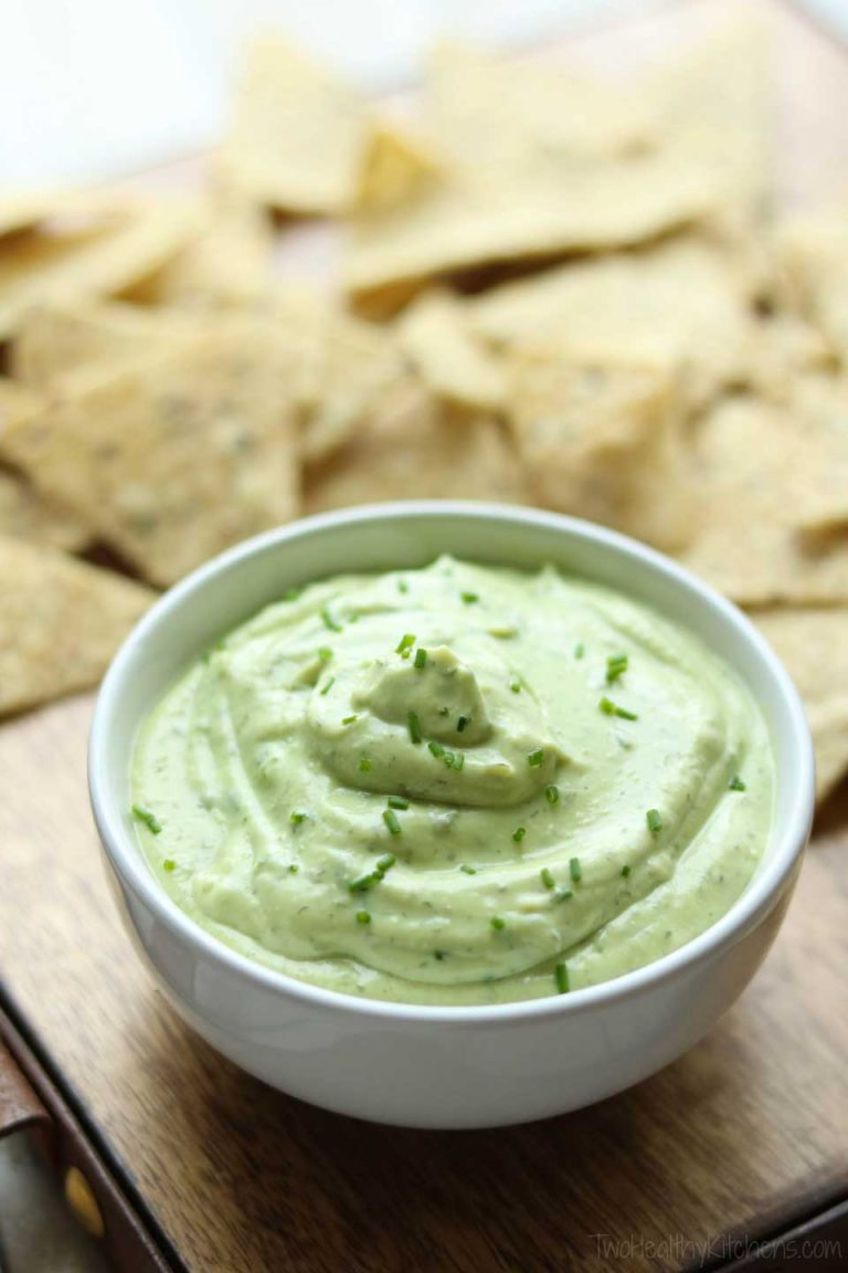 5-Minute Avocado Ranch Dip with Greek Yogurt | Easy Dipping Sauce For Vegetables