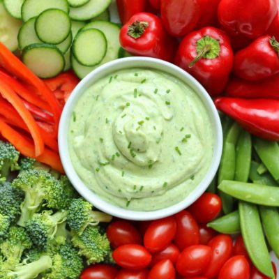 5-Minute Avocado Ranch Dip with Greek Yogurt