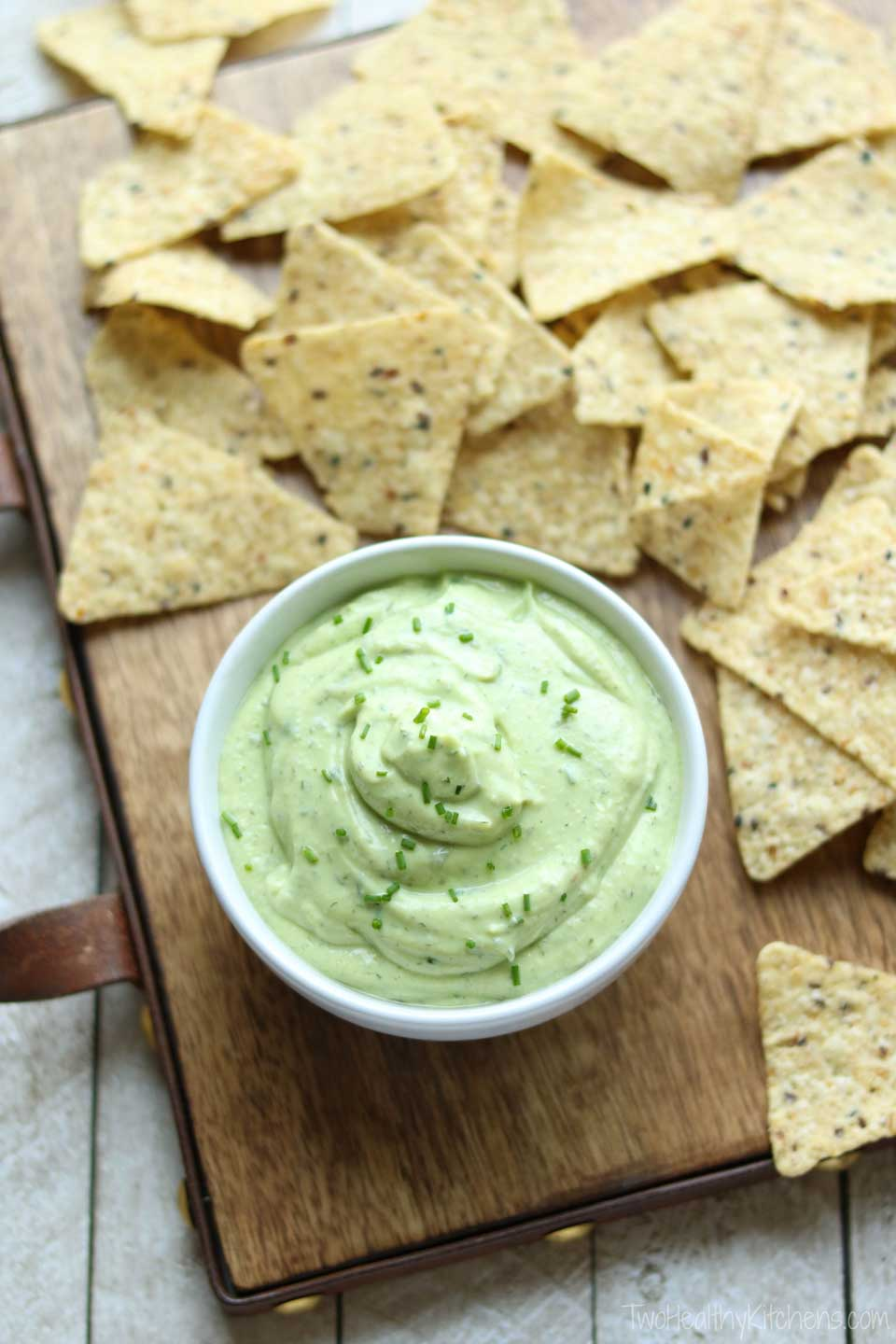 As pretty as it is healthy, this dip is great for snacking!