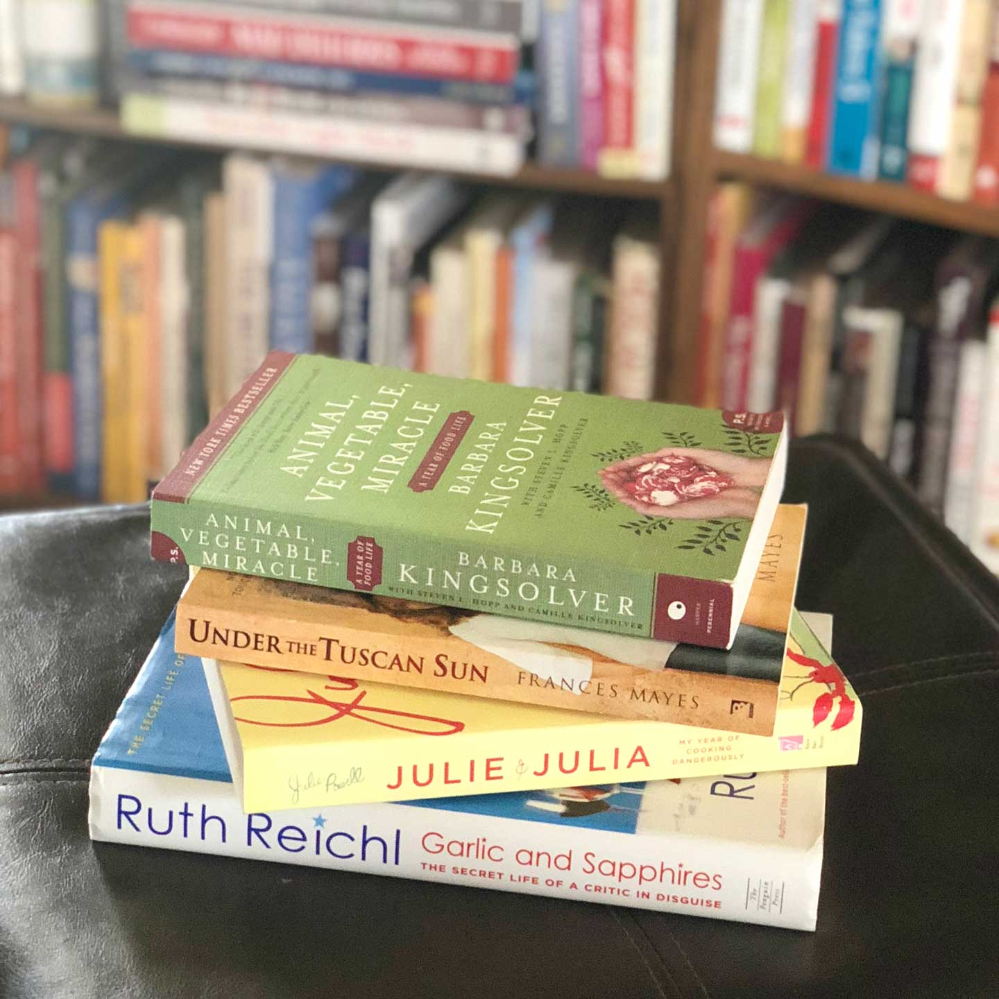 Books for food lovers don't have to be cookbooks! Are you looking for a Christmas gift idea for a cook, or someone who loves to read ... or both? These ideas are great for holiday gifts, and also just for your own book wish list!