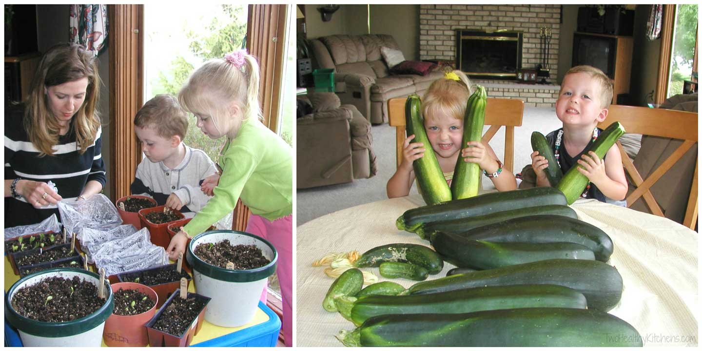 When we were little, my brother and I also helped mom garden – plenty of yummy healthy veggies that we could cook up at the end of the summer … like SOOOOOO many zucchini!