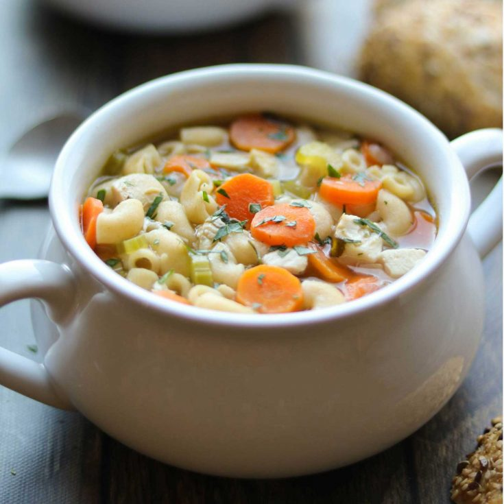 Rotisserie Chicken Noodle Soup Easy Comforting 30 Minute Recipe