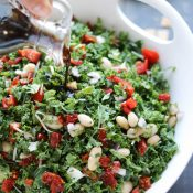 Tuscan Kale Salad with Honey-Balsamic Vinaigrette