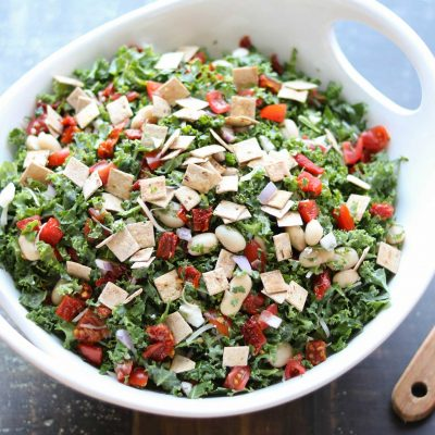 Tuscan Kale Salad with Honey-Balsamic Vinaigrette
