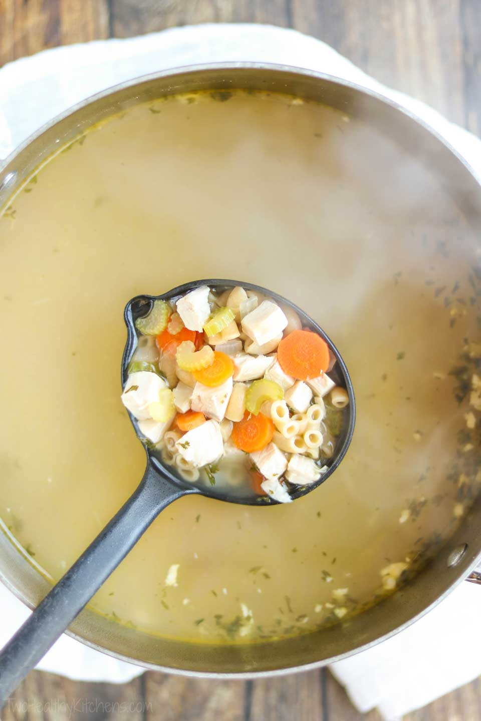 Using low sodium chicken broth is perfect for chicken soup recipes!