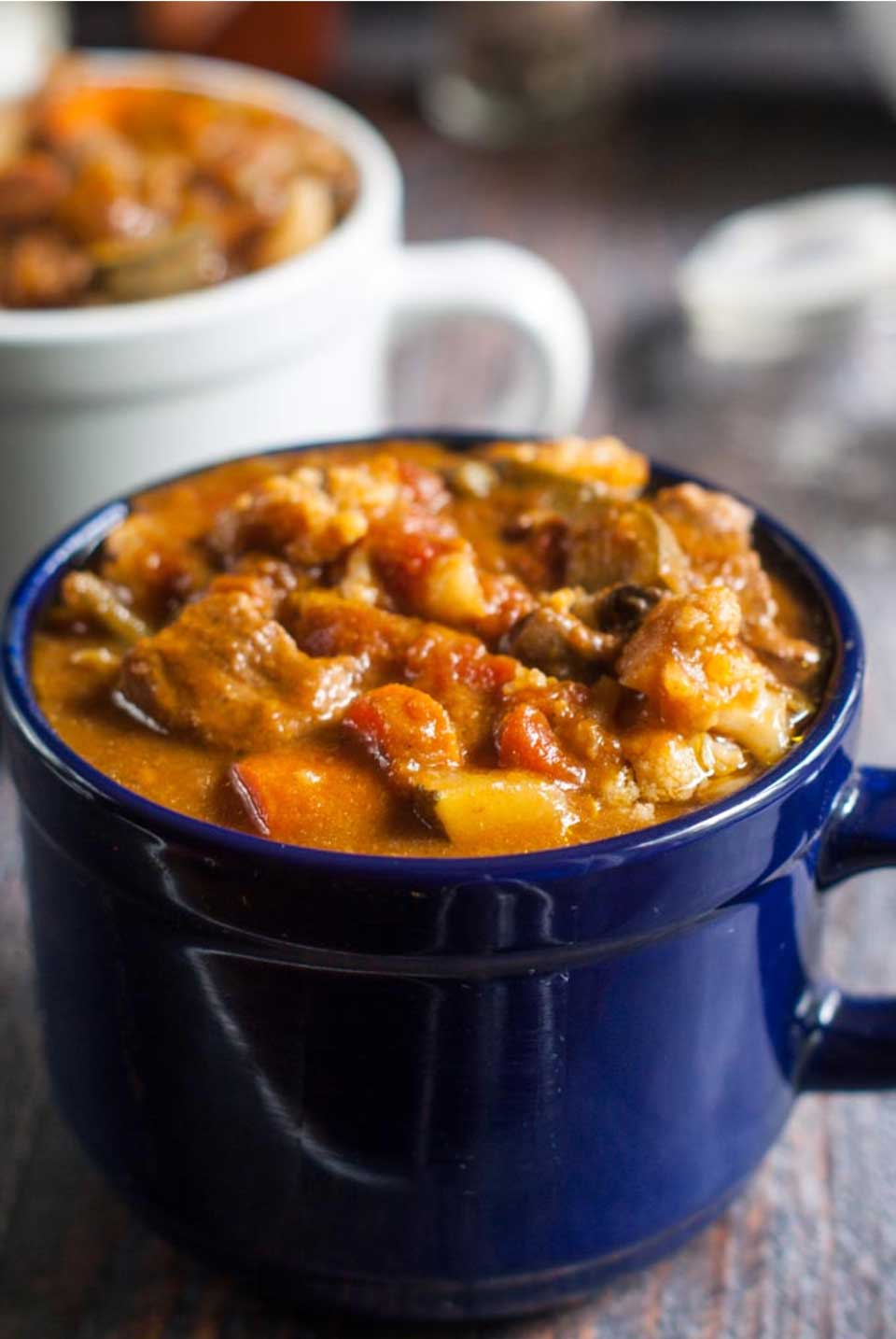 Looking for a healthier comfort food recipe? We've got tips and recipes to turn traditional beef stew into a healthier option – including this Nourishing Beef Stew in the Instant Pot from Denise at My Life Cookbook.