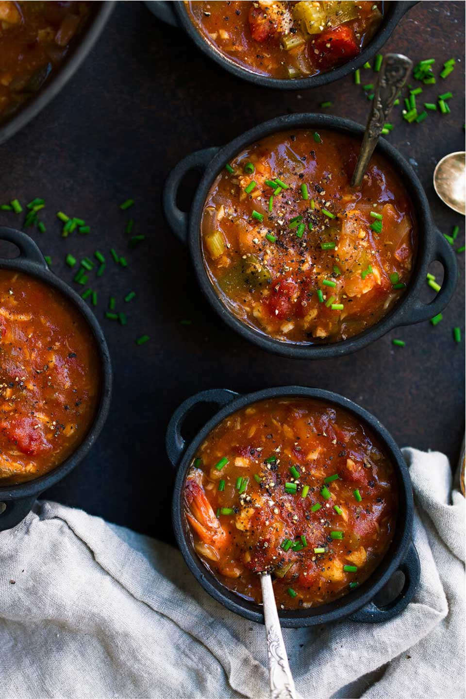 A terrific seafood stew! Whole 30 Instant Pot Seafood Gumbo from Monica at The Movement Menu is so quick in your electric pressure cooker! Plus, be sure to check out our whole list of stew recipes, and healthier tips for making a more nutritious stew!