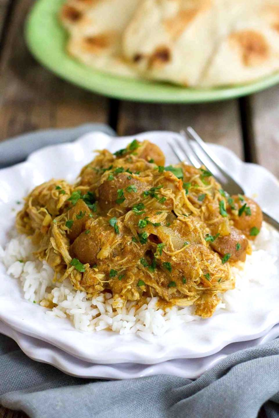 This easy, healthy Instant Pot Chicken Curry Recipe with Potatoes from Dara at Cookin' Canuck is just one of 20 deliciously quick recipes we've got for you today – be sure to check 'em all out! And then ... Break out that pressure cooker, and dinner will be done in a jiffy!