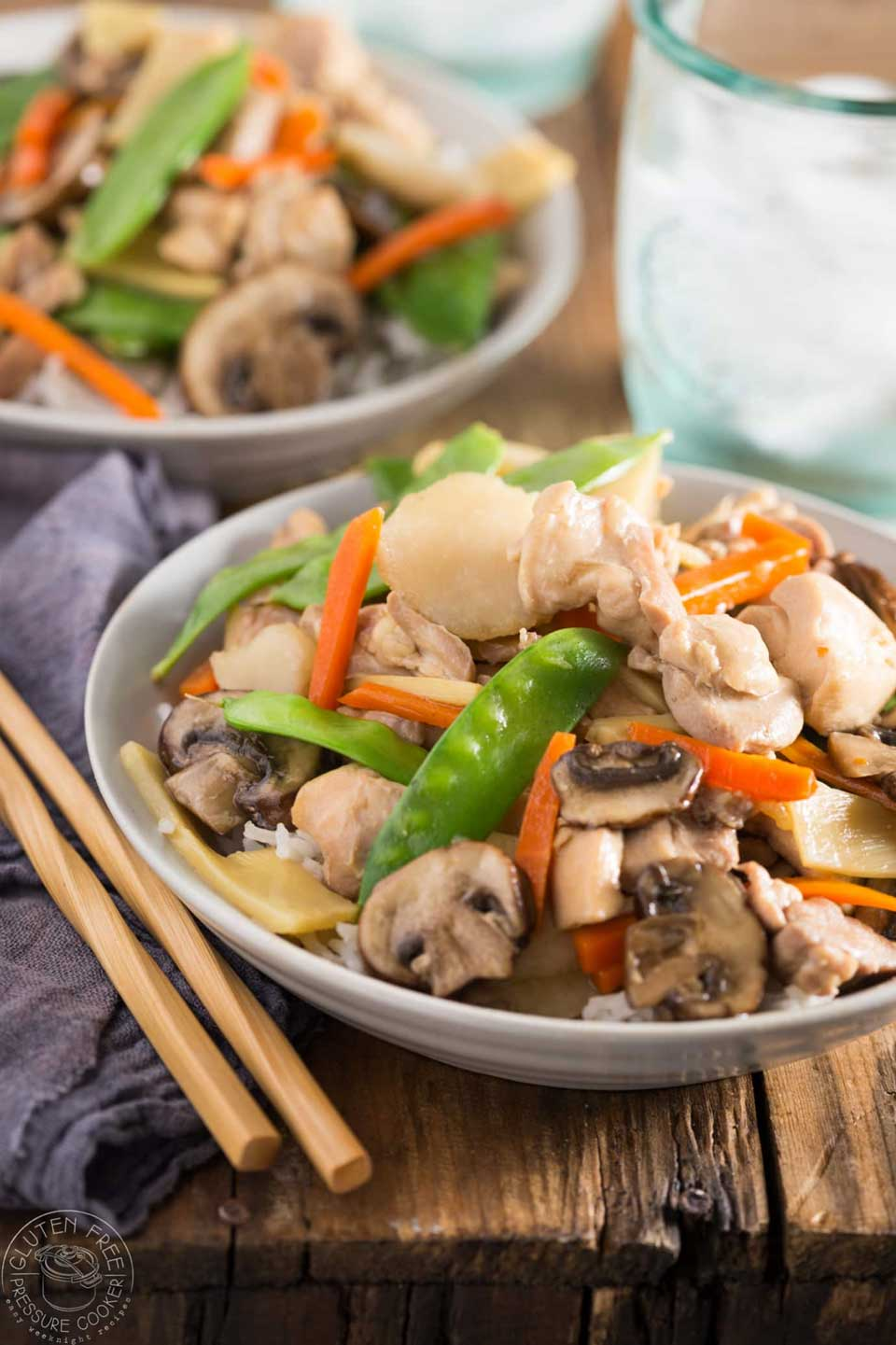 Forget take-out! We've got 20 great chicken dinners for you today, all super easy and fast in your pressure cooker. Case in point: this Pressure Cooker Moo Goo Gai Pan from Sheena at Gluten Free Pressure Cooker!
