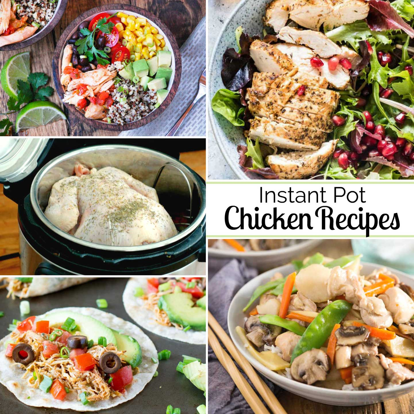 This round-up list of 20 pressure cooker chicken recipes features recipes for chicken breasts, chicken thighs …. even whole chickens!