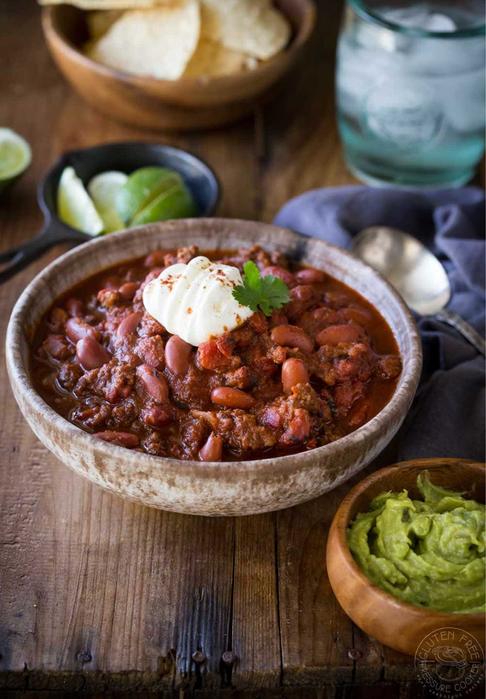 Is this truly the BEST EVER Instant Pot Chili! (from Sheena at Gluten Free Pressure Cooker)? You decide! And don't miss all our other pressure cooker chili recipes, too!