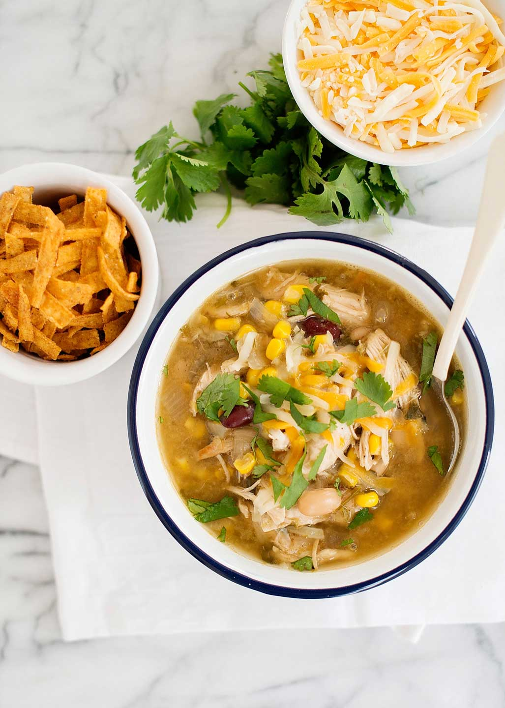 A great idea for a healthy bowl of chili - Instant Pot Green Chicken Chili from Rebecca at Simple As That – just one of 17 recipes for Instant Pot chili that we've hand-picked to be healthy, quick and easy!