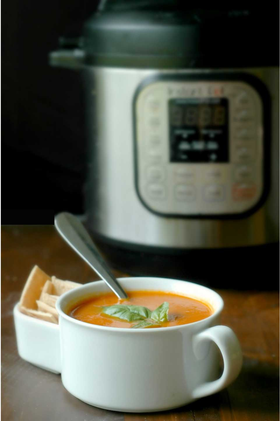 Like all the soup recipes on our list of pressure cooker faves, this Instant Pot Tomato Soup from Renee at Raising Generation Nourished is quick and easy … on the table in a flash!